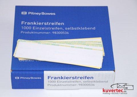 PitneyBowes-Kuvertiermaschinen-Frankierstreifen